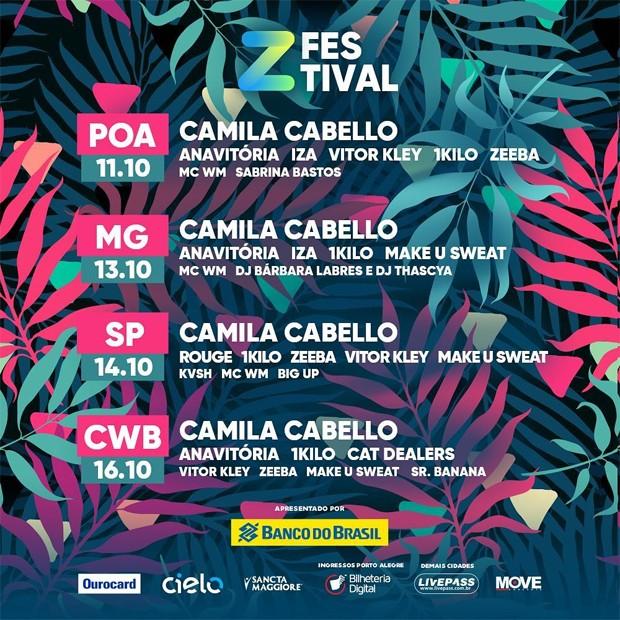 Line-up Z Festival 2018 (Foto: Reprodução/Instagram)