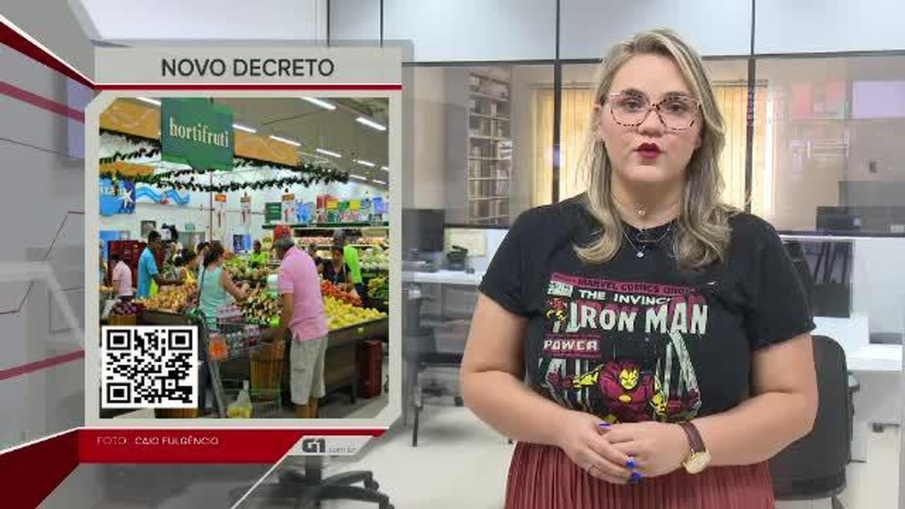 G1 em 1 minuto-AC: supermercados voltam a abrir nos fins de semana e feriados