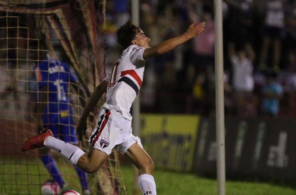 Igor marca, e São Paulo avança às quartas de final da Copa São Paulo; Vitória é o próximo adversário (Foto: Célio Messias / saopaulofc.net )
