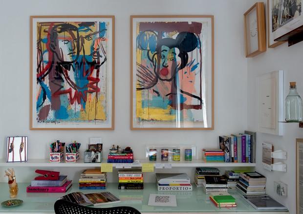 Pinturas de Francisco Vidal no quarto de Camila  (Foto: André Klotz)