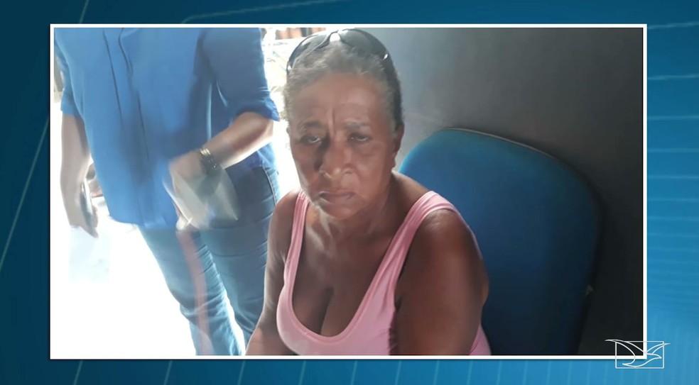 Maria Helena da Conceição de Aquino foi encaminhada para o presídio de Pedreiras — Foto: Reprodução/TV Mirante