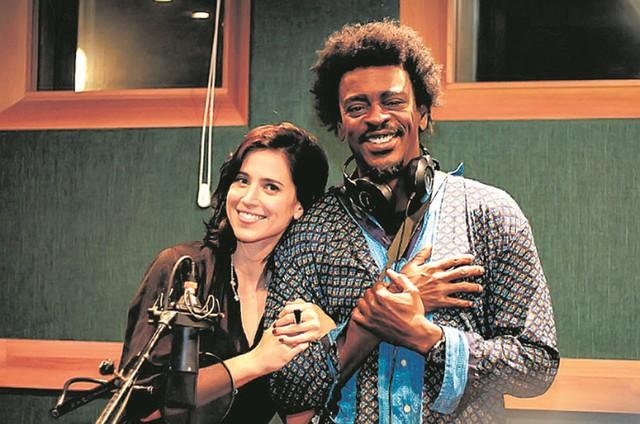 Mel Lisboa e Seu Jorge (Foto: Divulgação)