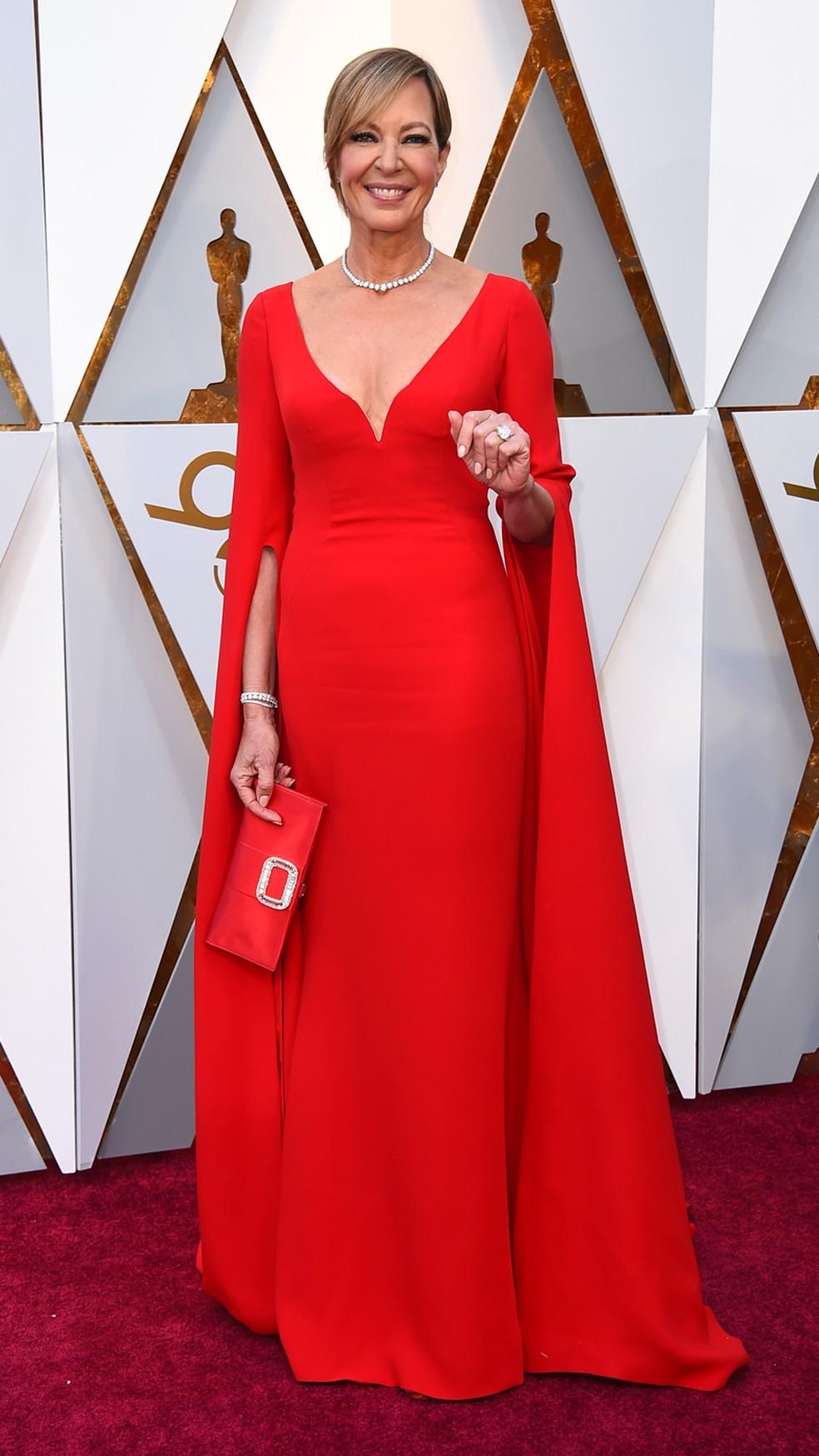 Allison Janney, indicada ao prêmio de Melhor Atriz Coadjuvante por 'Eu, Tonya', chega ao Oscar 2018 (Foto: Jordan Strauss/Invision/AP)