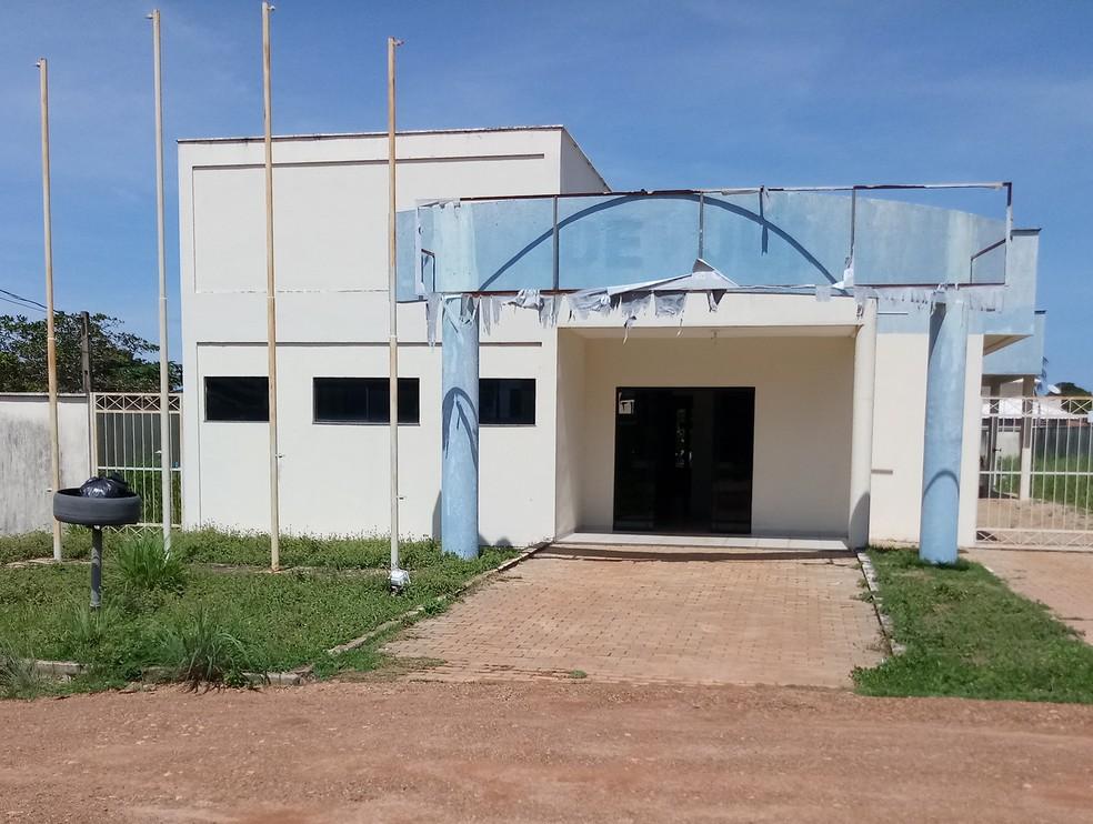Prédio da delegacia foi alvo de furto em Divinópolis — Foto: Divulgação