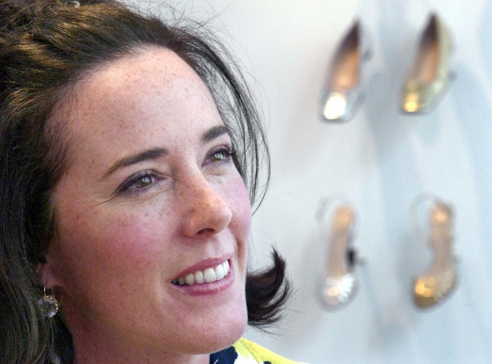 Kate Spade, designer de sapatos e bolsas, foi encontrada morta nesta terça-feira (5). Polícia trabalha com hipótese de suicídio (Foto: Bebeto Matthews/AP Photo/Arquivo)