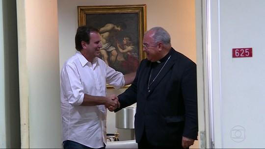 Paes visita Dom Orani Tempesta e apresenta propostas para população mais pobre do RJ