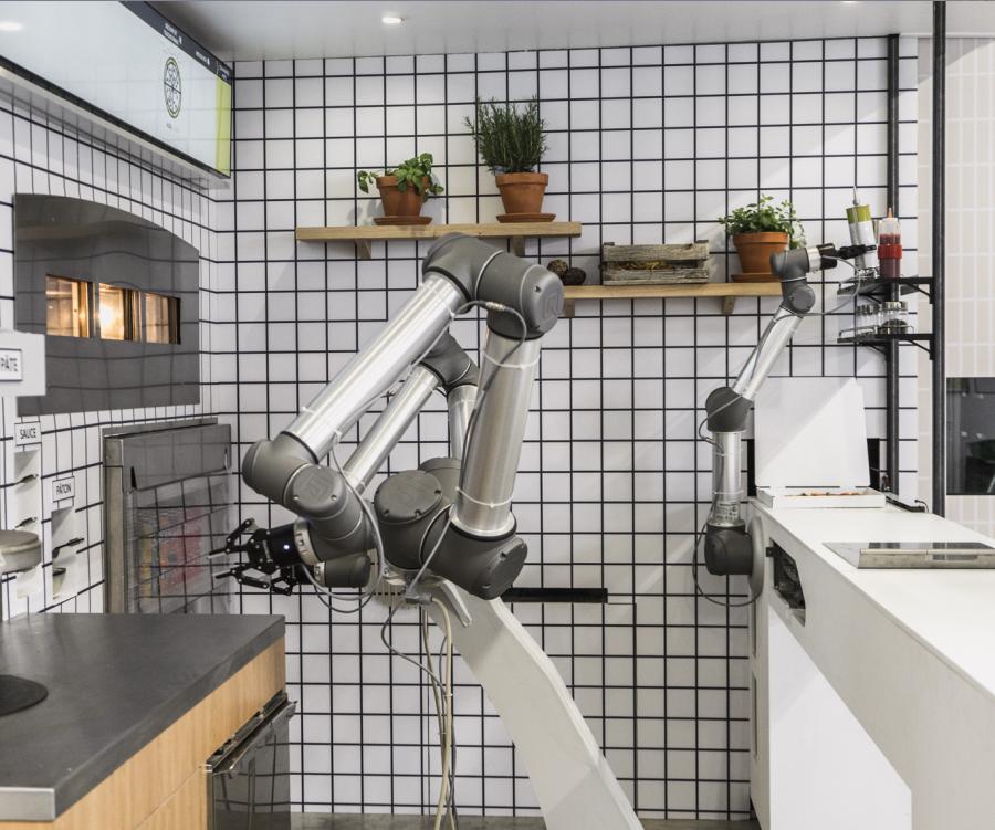 A empresa Ekim lançará o robô pizzaiolo  (Foto: Divulgação/Ekim)