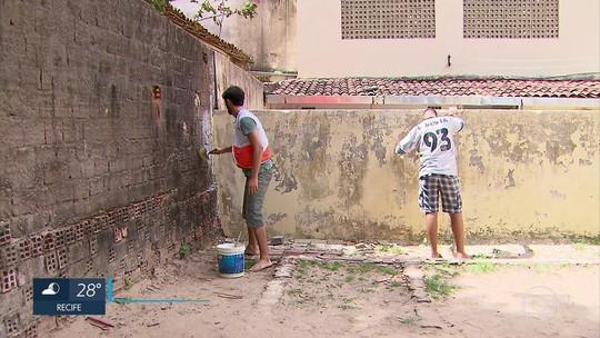 Ação de ONG une voluntários para revitalizar cinco escolas públicas do Recife