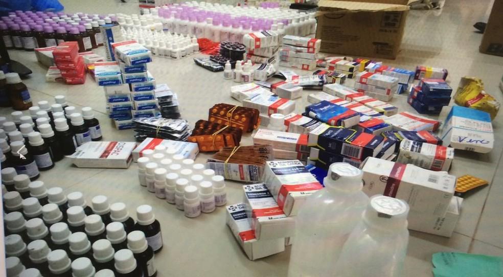 -  Todos os medicamentos estavam na casa do então secretário de Sáude de Rorainópolis  Foto: MPRR/Divulgação