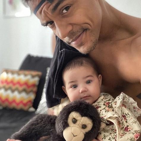 Marcello Melo Jr. com a filha, Maya (Foto: Arquivo pessoal)