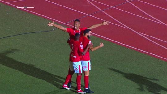 O gol de Vila Nova 1 x 0 São Bento
