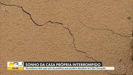 Condomínio do 'Minha Casa' em São Gonçalo corre o risco de desabar