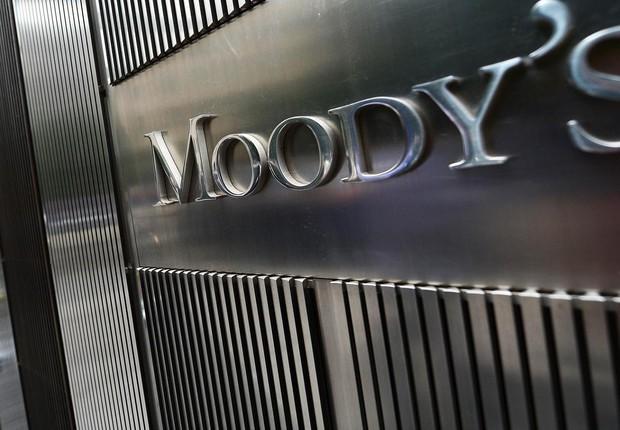 Fachada da agência de classificação de risco Moody's em Nova York (Foto: Emmanuel Dunand/Getty Images)