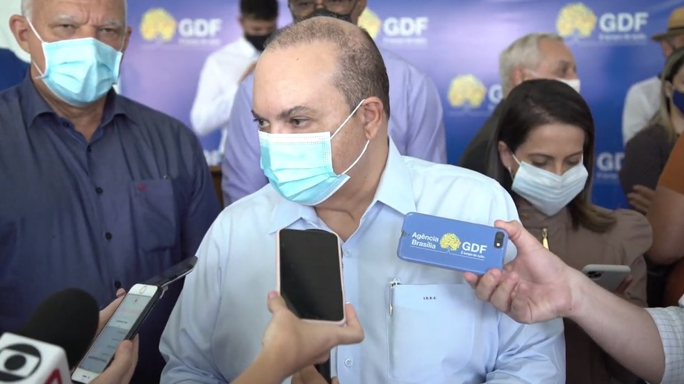 Governador do Distrito Federal, Ibaneis Rocha, em entrevista — Foto: Agência Brasília
