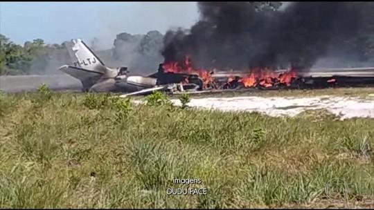 Queda de jatinho em resort na Bahia deixa 1 morto e 9 feridos