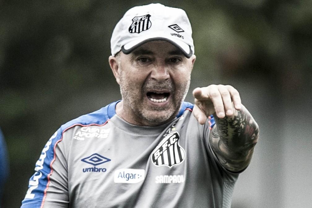 Jorge Sampaoli, técnico do Santos — Foto:  Ivan Storti/Santos FC