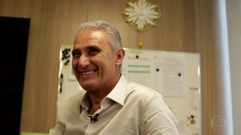 Tite conversou com Felipe Andreoli (Foto: Reprodução Tv Globo)