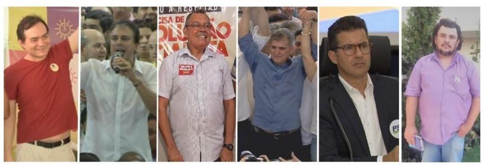 Candidatos ao cargo de governador do Ceará em 2018. (Foto: G1 CE)