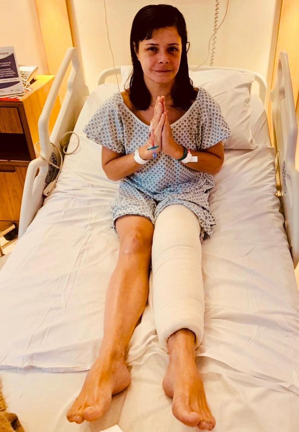 Médica Ticyana Ferreira D'Azambuja Ramos foi submetida a cirurgia após agressões — Foto: Divulgação