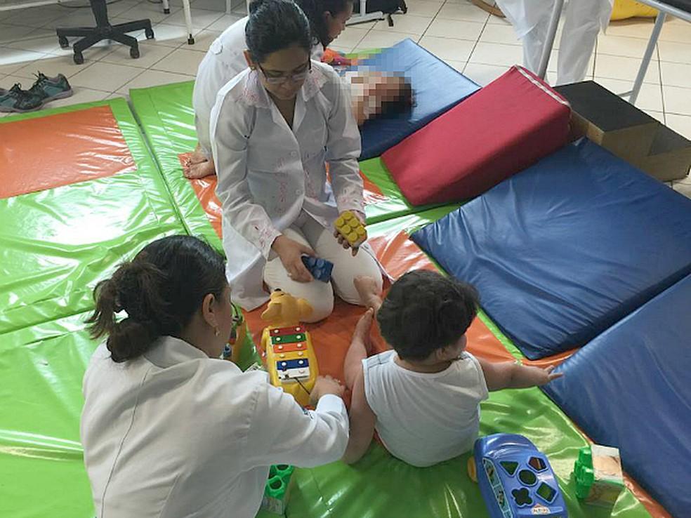 Abrigo atende crianças e adolescentes com deficiência — Foto: Divulgação/Abrigo Moacyr Alve