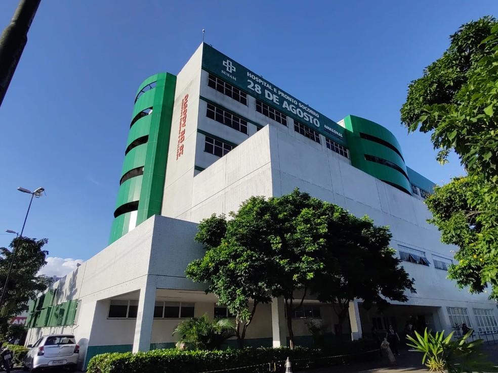 Hospital 28 de Agosto, em Manaus — Foto: Eliana Nascimento/G1 AM