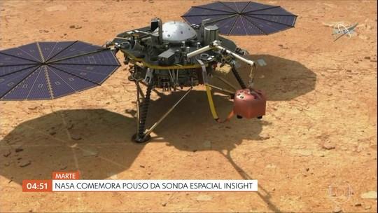 Nasa comemora pouso da sonda espacial Insight em Marte
