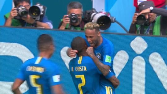 Veja os gols de Brasil 2 x 0 Costa Rica