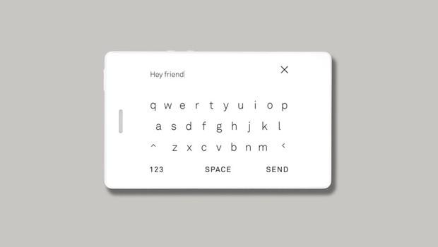 Tela de mensagens do Light Phone 2, aparelho minimalista da startup Light (Foto: Divugação/Light)