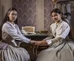 Dolores (Daphne Bozaski) e Pilar (Gabriela Medvedovski) em 'Nos tempos do Imperador' | TV Globo