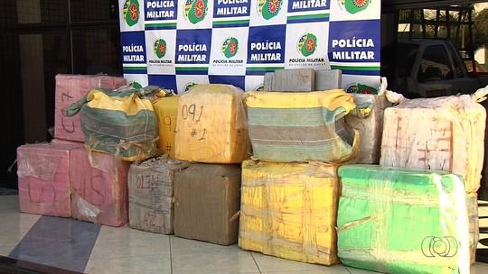 Cocaína apreendida em avião interceptado soma 662 kg