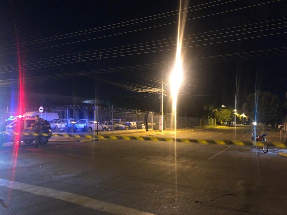 Acidente que matou criança ocorreu em esquina no Centro de Rondonópolis — Foto: Divulgação