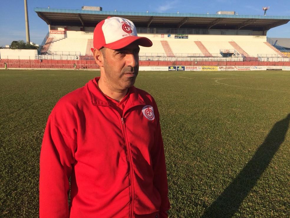 Juninho Chicchinato comanda o Inter de Lages (Foto: Rafael Araldi/Inter de Lages)