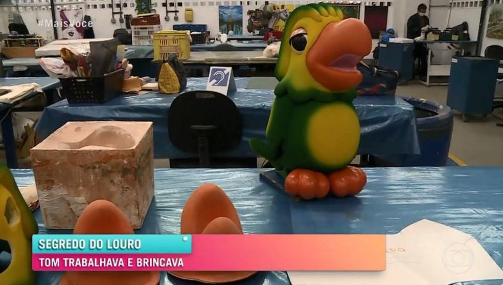 Boneco de Louro José era produzido na Globo e demorava um mês para ficar pronto  Foto: Globo