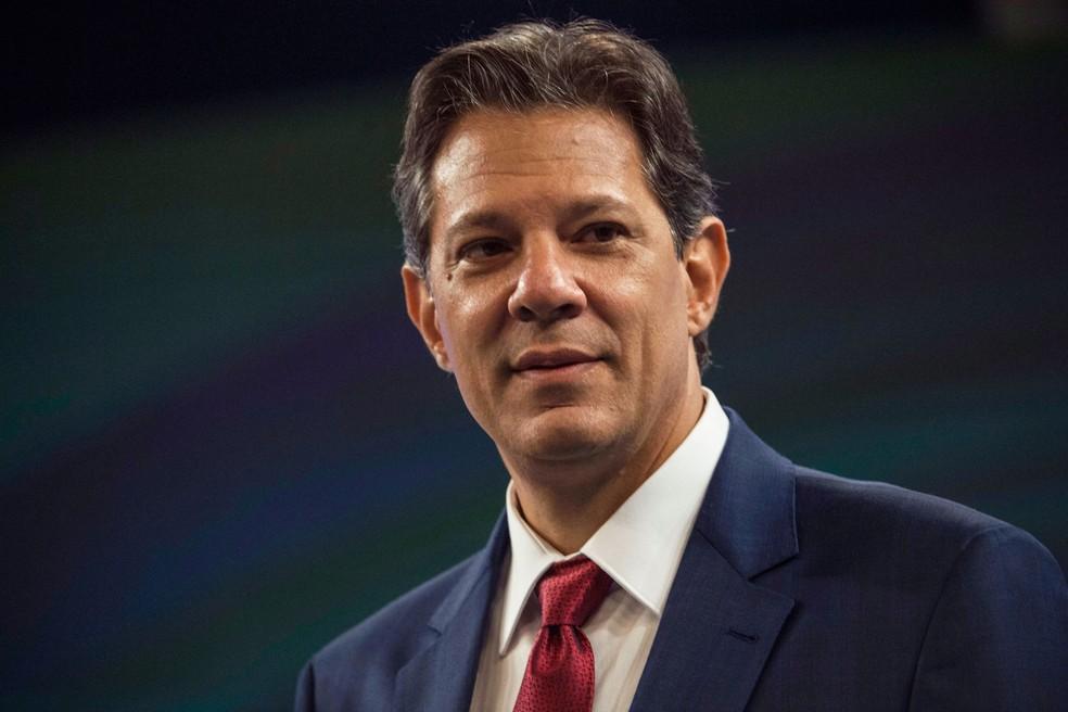 Fernando Haddad, candidato do PT à Presidência da República — Foto: Daniel Ramalho/AFP