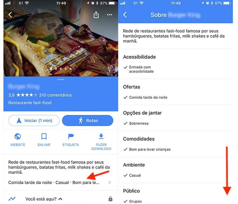 Google Maps: Veja Características De Um Estabelecimento
