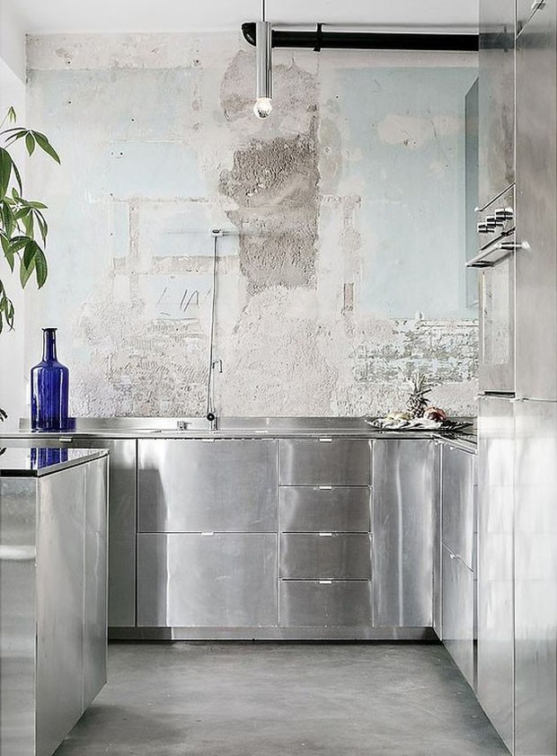 Cozinhas de inox: 14 ideias para se inspirar (Foto: Reprodução/Divulgação)