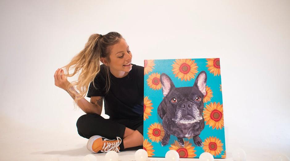 Gabriela Rossato, fundadora da Seu Pet Art, negócio que vendeu mais de mil quadros em sete meses (Foto: Divulgação)