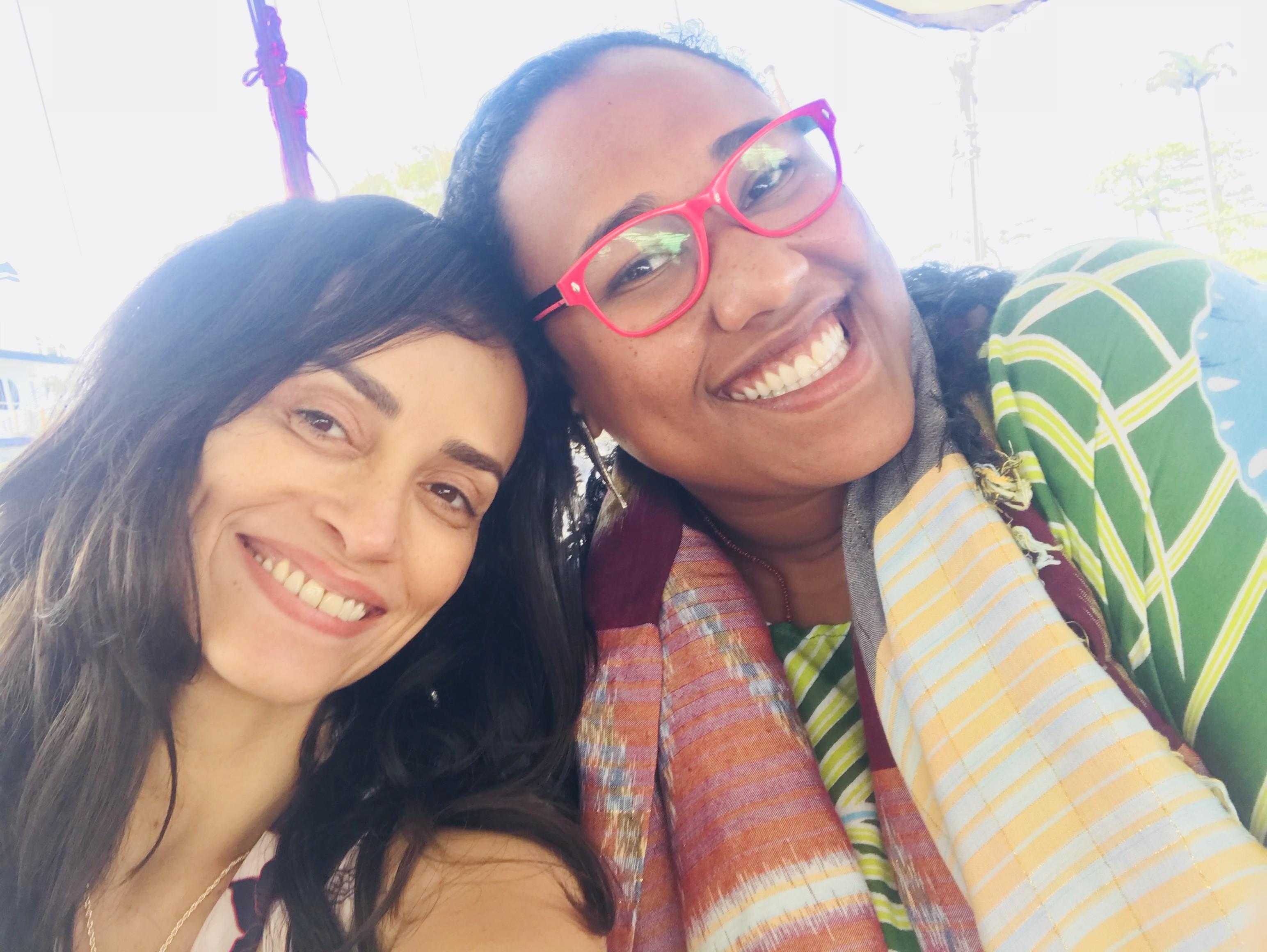 """""""Luana Xavier é uma atriz e produtora que trabalha comigo em quase tudo que faço"""", conta Suzi Pires (Foto: Arquivo pessoal)"""