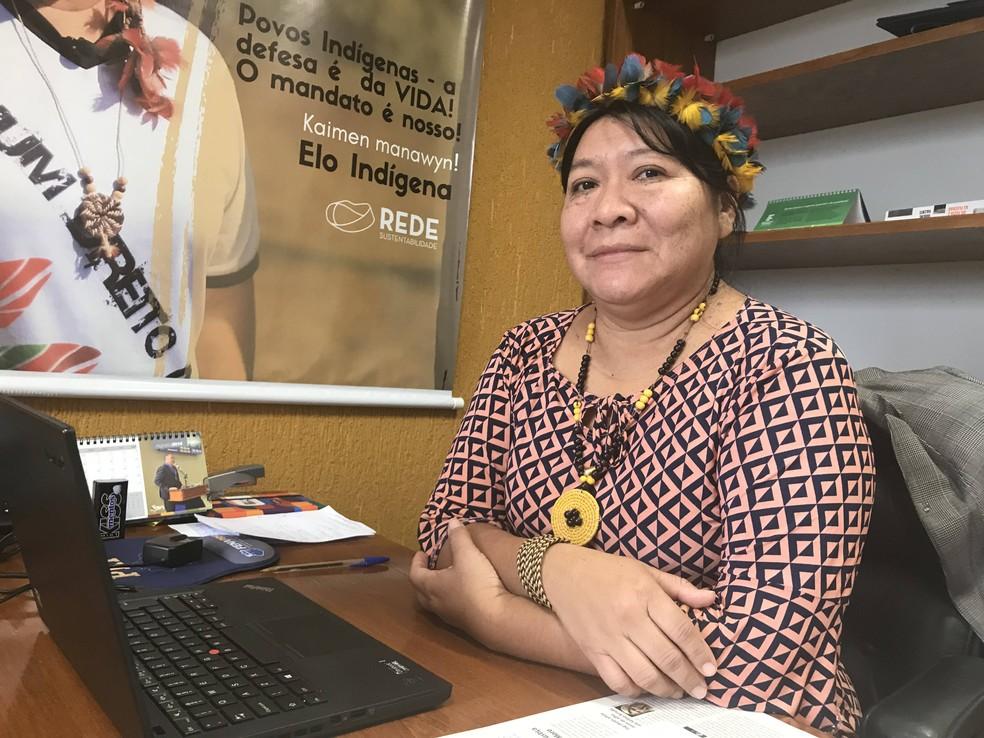Joênia Wapichana (Rede), deputada federal por Roraima  — Foto: Marília Marques/G1