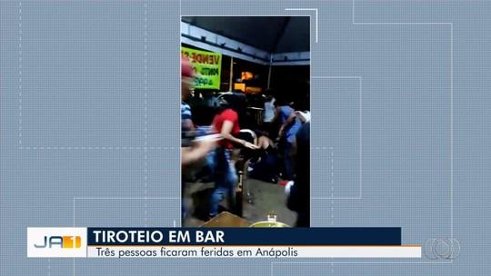 Tiroteio em bar deixa três pessoas feridas em Anápolis