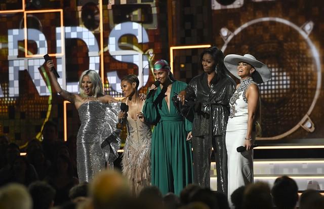 Lady Gaga, Jada Pinkett Smith, Alicia Keys, Michelle Obama e J.Lo (Foto: Getty Images)