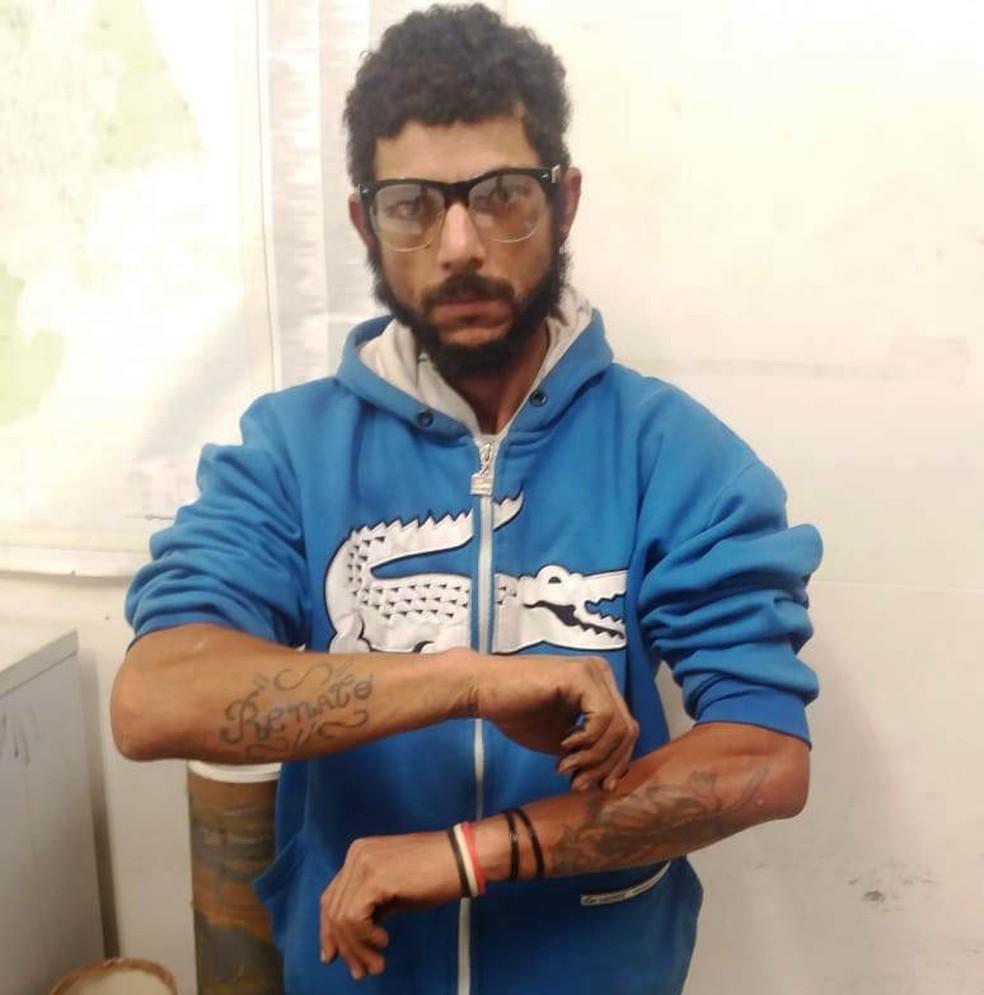Cristian de Souza, de 34 anos, foi encontrado na Vila Ponte Nova, em São Vicente, SP (Foto: Divulgação/Polícia Militar)