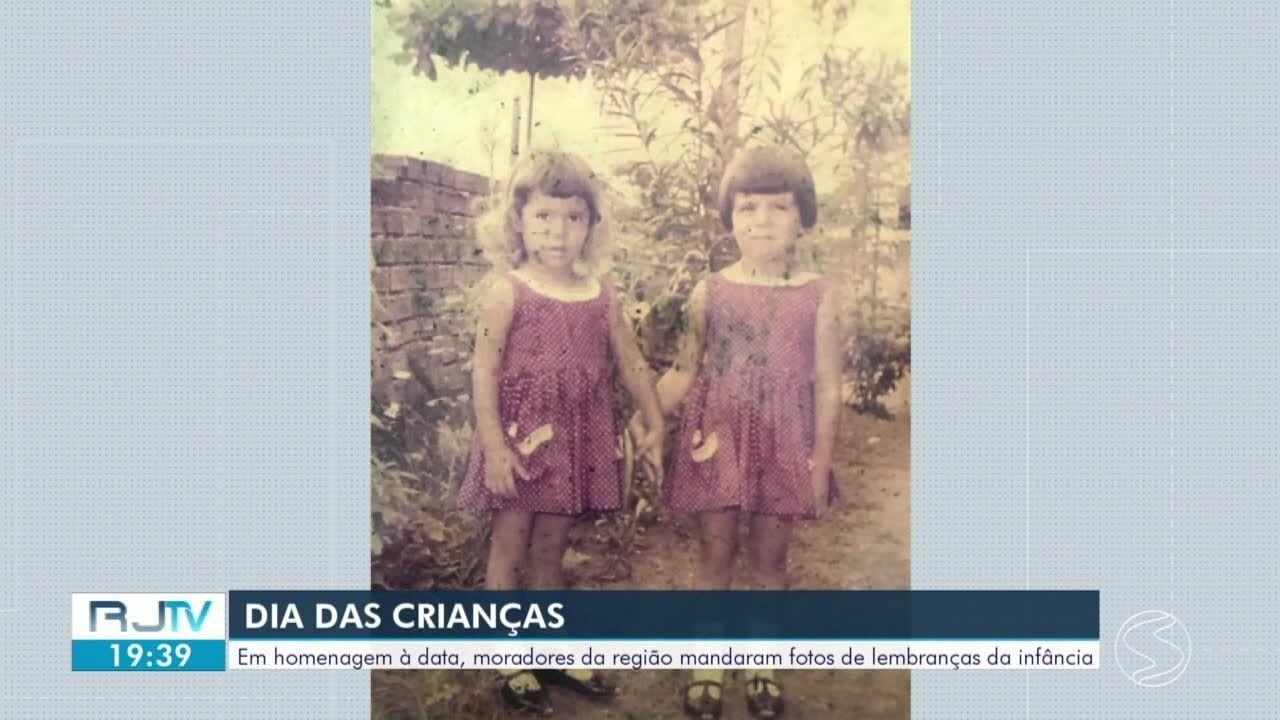 Em homenagem ao Dia das Crianças, moradores mandaram fotos de lembranças da infância