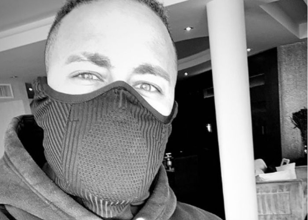 Neymar, máscara — Foto: Reprodução/instagram