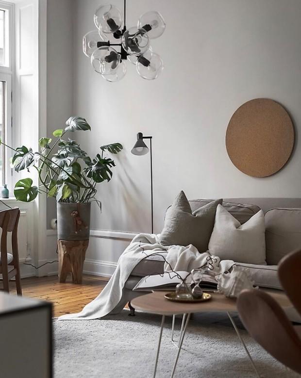 Décor do dia: estilo escandinavo na sala de estar