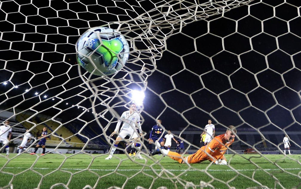 Gol do Bragantino contra o Bahia — Foto: Ari Ferreira/Red Bull Bragantino