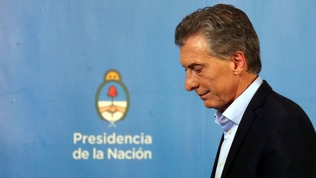 Mauricio Macri — Foto: Reuters