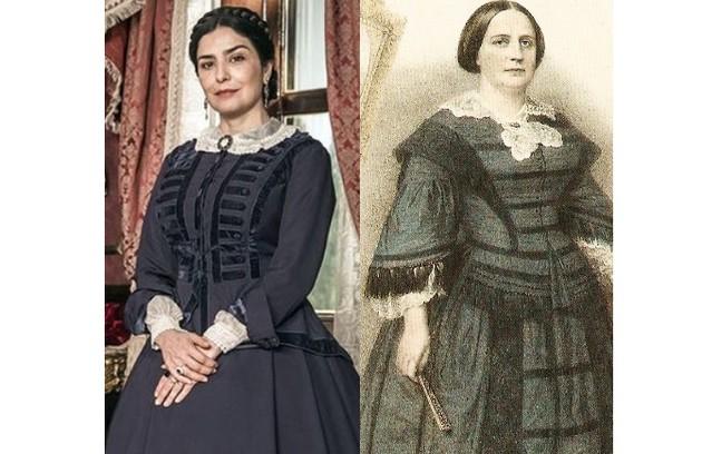 Leticia Sabatella será Teresa Cristina, a mulher de Dom Pedro II (Foto: Globo e reprodução)