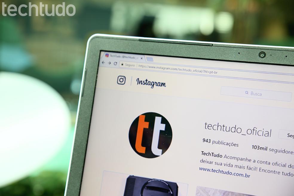 Aprenda a publicar fotos na sua história do Instagram pelo PC (Foto: Carolina Ochsendorf/TechTudo)