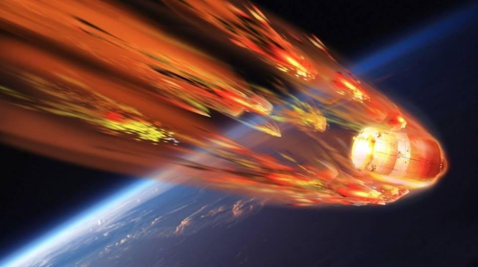 Telescópio captura imagem da estação espacial chinesa em queda na Terra